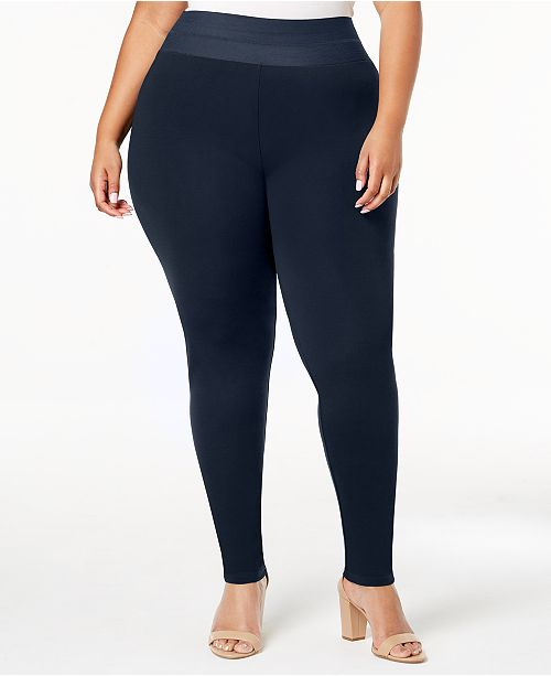 INC International Concepts INC Shaping Plus Size Smoothing Leggings, Created for Macy's