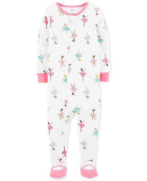 9d7167513 Carter s Baby Girls Ballerina-Print Cotton Footed Pajamas   Reviews ...