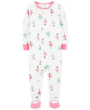 Carters Baby Girls BallerinaPrint Cotton Footed Pajamas