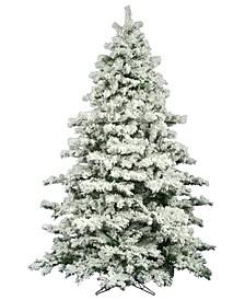 9' Flocked Alaskan Pine Artificial Christmas Tree Unlit