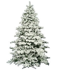 9' Flocked Alaskan Pine Artificial Christmas Tree Unlit