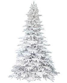 Vickerman 7.5' Flocked White Spruce Artificial Christmas Tree Unlit