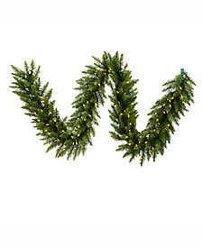 9' Camdon Fir Artificial Christmas Garland with 100 Warm White LED Lights
