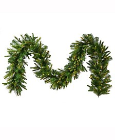 Vickerman 50' Cashmere Artificial Christmas Garland with 550 Warm White LED Lights