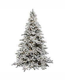 Vickerman 10' Flocked Utica Fir Artificial Christmas Tree with 1450 Warm White LED Lights