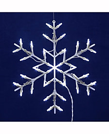"16"" Snowflake Wire Silhouette with 35 LED Lights"