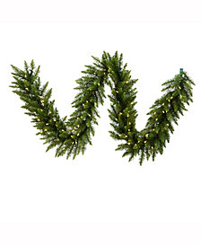 25' Camdon Fir Artificial Christmas Garland with 450 Warm White LED Lights