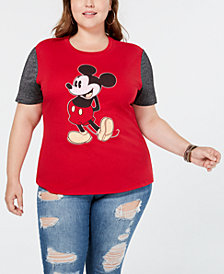 Love Tribe Plus Size Mickey Mouse Colorblocked T-Shirt