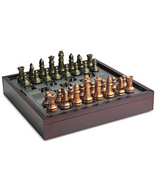 Jay Imports Elle Chess Game with Glass Top