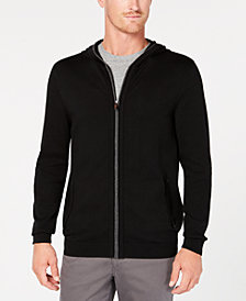 Tasso Elba Men's Zip-Front Supima Cotton Hoodie, Created for Macy's