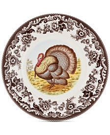 Spode Woodland Turkey Luncheon Plate