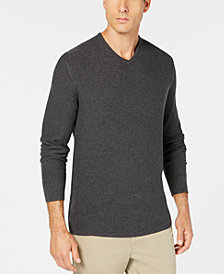 Tasso Elba Men's Seed-Stitched Supima Cotton Sweater, Created for Macy's