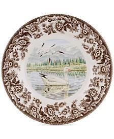 Woodland Snow Goose Salad Plate
