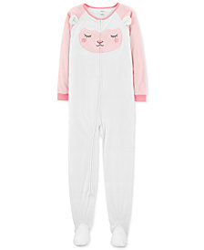 Carter's Little & Big Girls Footed Lamb Fleece Pajamas