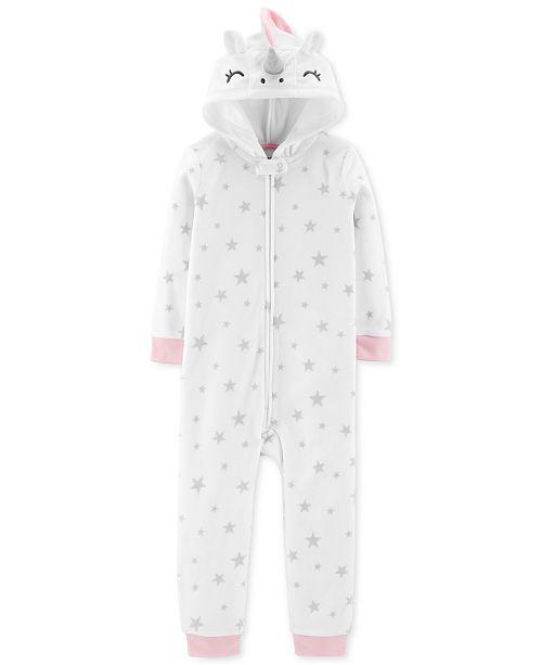 efc439748387 Carter s Toddler Girls Unicorn Fleece Footless Pajamas   Reviews ...
