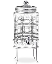 Portland 2-Gallon Beverage Dispenser with Glass Lid & Rack