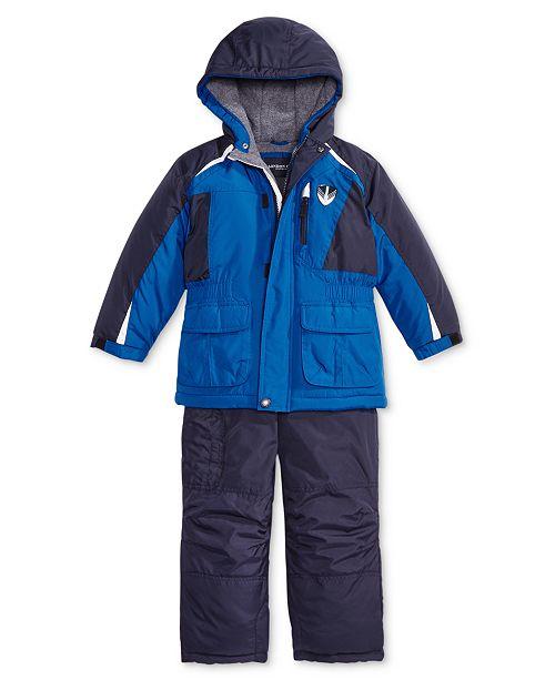 7d50616ecd45 London Fog Little Boys Colorblocked Jacket   Pants Snowsuit ...