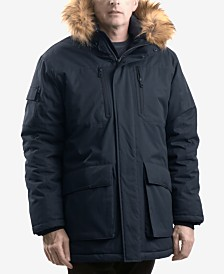 Hawke & Co. Outfitter Men's Logan Faux-Fur-Trim Parka
