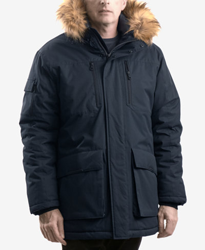 Hawke & Co. Outfitter Men's Logan Faux-Fur-Trim Parka