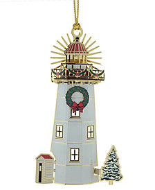 ChemArt Holiday Light House Ornament