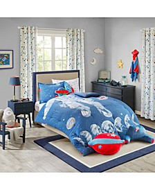 Stellar Space 100% Cotton Comforter Mini Set Full/Queen, Created for Macy's