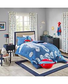 Urban Dreams Stellar Space 100% Cotton Comforter Mini Set Full/Queen, Created for Macy's