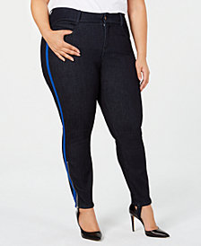 YSJ Plus Size Skinny Stirrup Ankle Jeans, Created for Macy's