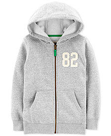 Carter's Little & Big Boys Full-Zip Fleece Hoodie