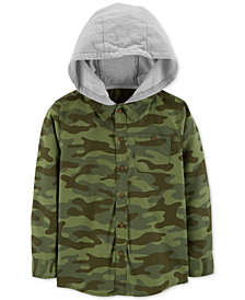Carter's Little Boys Hooded Camo Shirt