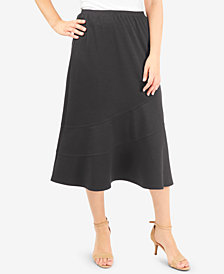 NY Collection Pull-On A-Line Skirt