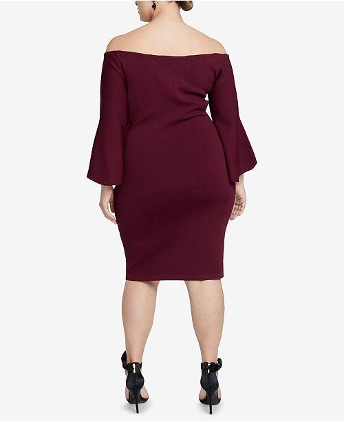 Rachel Rachel Roy Plus Size Off The Shoulder Sweater Dress Dresses