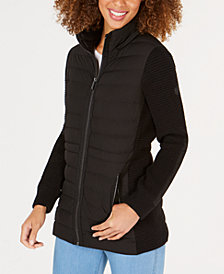 MICHAEL Michael Kors Mixed-Media Puffer Coat