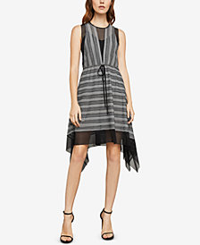 BCBGMAXAZRIA Striped Asymmetrical Dress