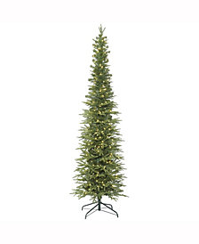 7.5' Bixley Pencil Fir Artificial Christmas Tree with 400 Warm White LED Lights