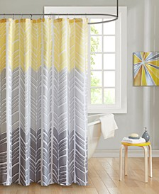 "Adel 72"" x 72"" 100% Microfiber Printed Shower Curtain"