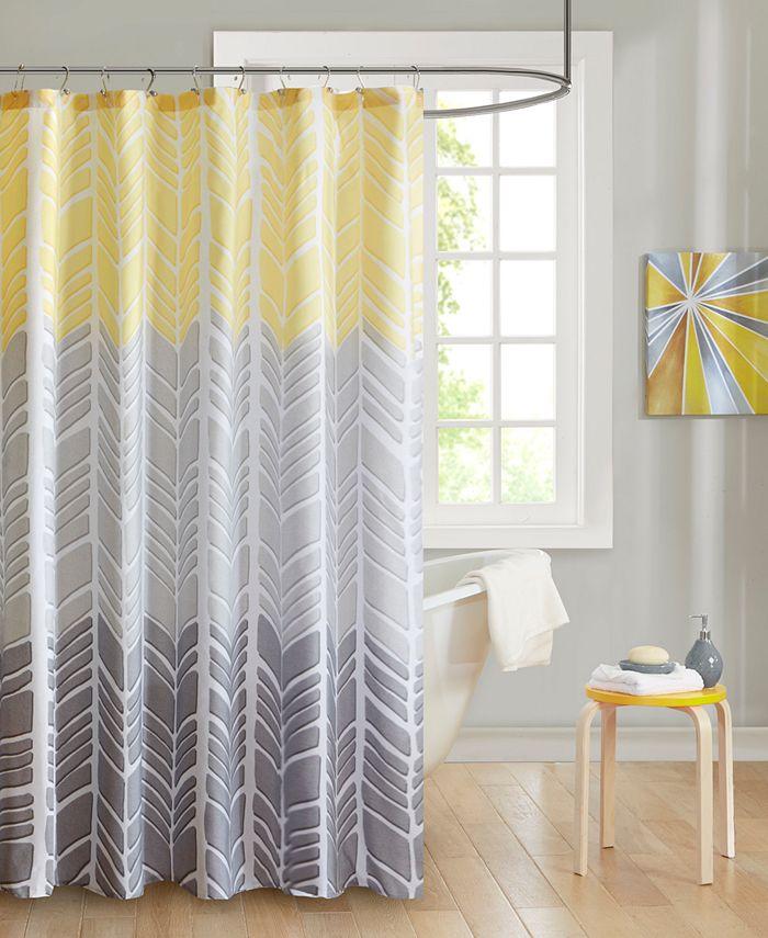 "Intelligent Design - Adel 72"" x 72"" 100% Microfiber Printed Shower Curtain"