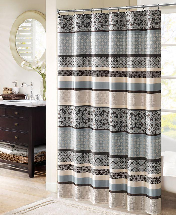 "Madison Park - Princeton 72"" x 72"" Jacquard Shower Curtain"