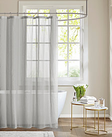 "Madison Park Anna 72"" x 72"" Sheer Shower Curtain"