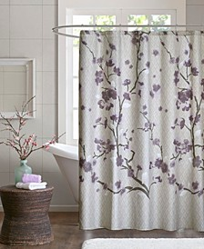 "Holly 72"" x 72"" Cotton Shower Curtain"