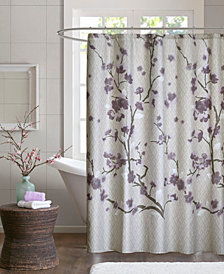 "Madison Park Holly 72"" x 72"" Cotton Shower Curtain"