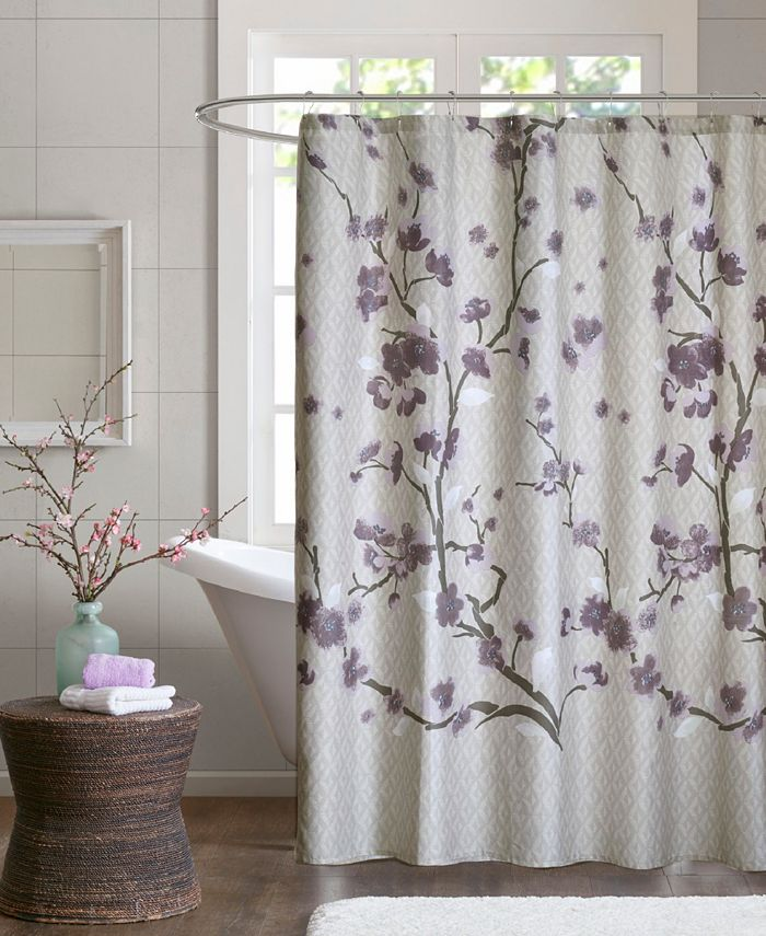 """Madison Park - Holly 72"""" x 72"""" Cotton Shower Curtain"""
