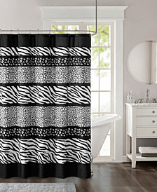 "Madison Park Zanzibar 72"" x 72"" Printed Microfiber Shower Curtain"