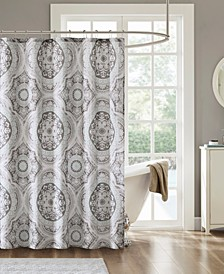 """June 72"""" x 72"""" Cotton Printed Shower Curtain"""