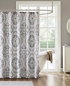 "Madison Park June 72"" x 72"" Cotton Printed Shower Curtain"