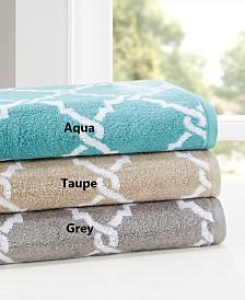 Madison Park Essentials Merritt 6-Pc Yarn Dyed Jacquard Towel Set