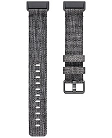 Charge 3 Charcoal Polyester Woven Strap