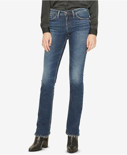 6873d181 Silver Jeans Co. Aiko Slim Bootcut Jeans & Reviews - Jeans - Juniors ...