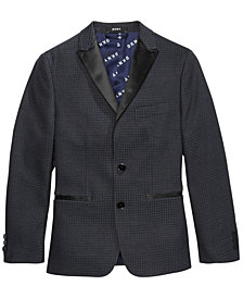 DKNY Big Boys Houndstooth Suit Jacket