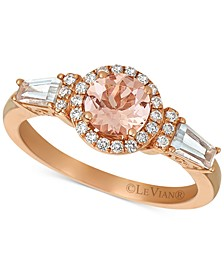 Peach Morganite™ (1.03 ct.t.w.) and Nude Diamonds™ (1/3 ct.t.w.) Ring set in 14k Strawberry Gold®