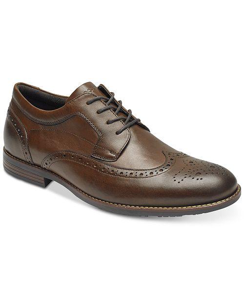 Rockport Men's Dustyn Leather Wingtip Oxfords